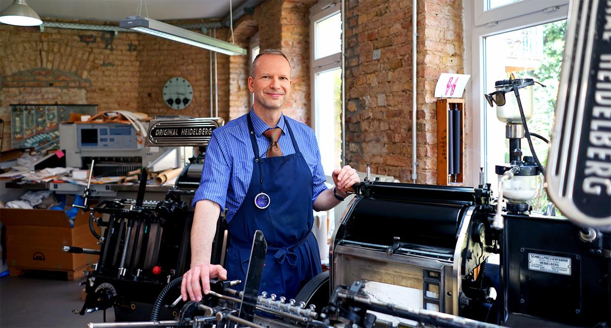 Martin Z Schröder Drucker Druckerey Die Werkstatt Des