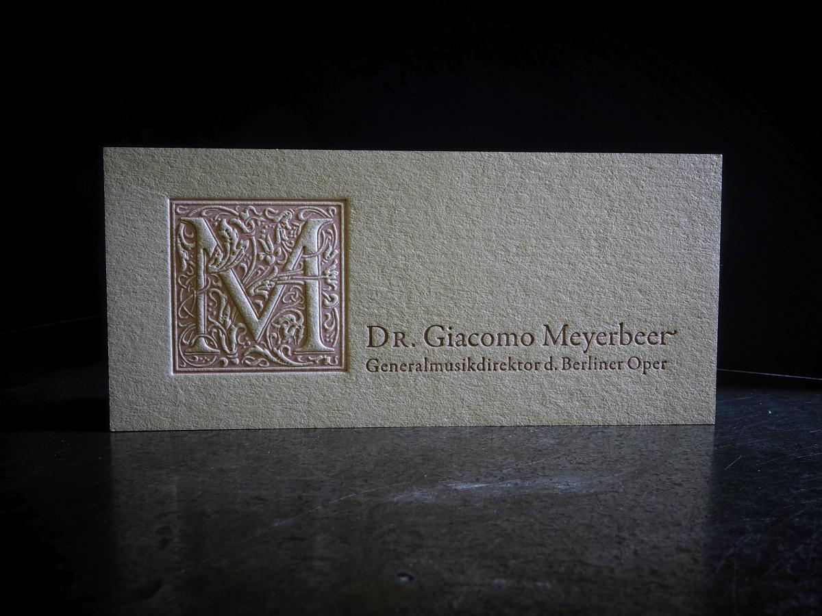 Visitenkarten In Bleisatz Und Letterpress Druckerey Die